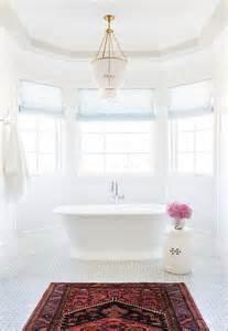 Chandelier Bathtub Soaking Tub by Bay Window Tub With Beaded Chandelier Transitional