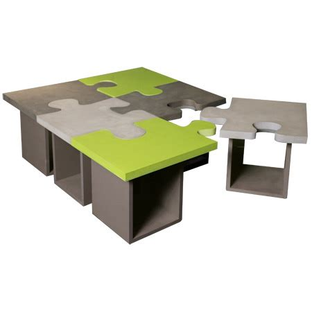 table basse puzzle beton batel table basse moderne batel