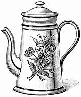 Teapot Tea Coloring Drawing Kettle Pages Printable Pot Drawings Clipart Cup Cliparts Sketch Pots Clip Draw Coloringhome Template Library Sketches sketch template