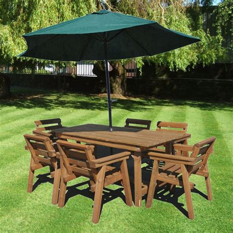 Garden Patio Table by Patio Set Garden Furniture 6ft Table 6 Chairs Solid
