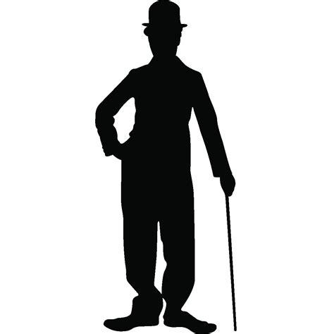 chambre anglais sticker silhouette de charlot ambiance sticker sb 0259