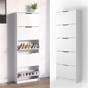 Schuhschrank Hoch Schmal : schuhkipper schuhregal schuhschrank schuhkommode 5 real ~ Orissabook.com Haus und Dekorationen