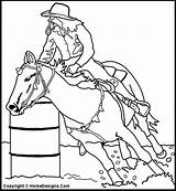 Coloring Racing Horse Pages Barrel Western Clip Horses Stencils Cowboy Sheets Print Barrels Clipart Messageboard Pal Adult Printable Cliparts Brought sketch template