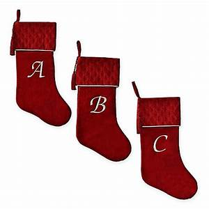 harvey lewis monogram letter luxurious velvet stocking in With christmas stockings with letters