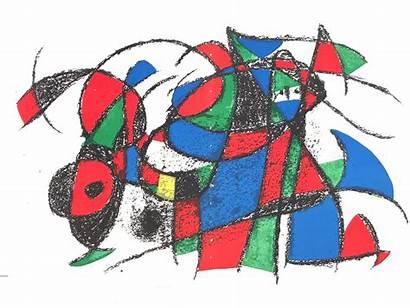 Joan Miro Lithograph Plate Iii Lot