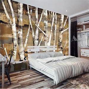 Silver Birch Tree Photo Wallpaper Murals for Bedroom ...