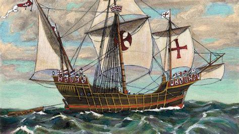 Christoph Columbus: Schiff Santa Maria vor Küste Haitis ...