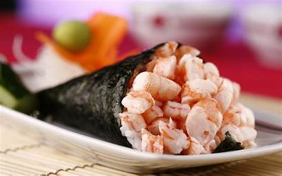 Sushi Seafood Shrimp Chinese Wallpapers Backgrounds Background
