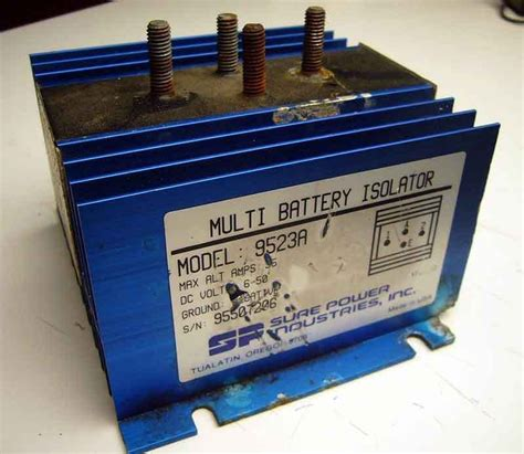 Sure Power Battery Isolator Wiring Diagram by Multi Battery Isolator Model 9523a Wiring Diagram
