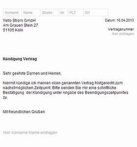 Kündigungsfrist Wohnung Beispiel : k ndigungsschreiben stromanbieter muster vorlagen ~ Frokenaadalensverden.com Haus und Dekorationen