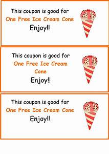 homemade coupon template free ice cream coupon template printable pdf download