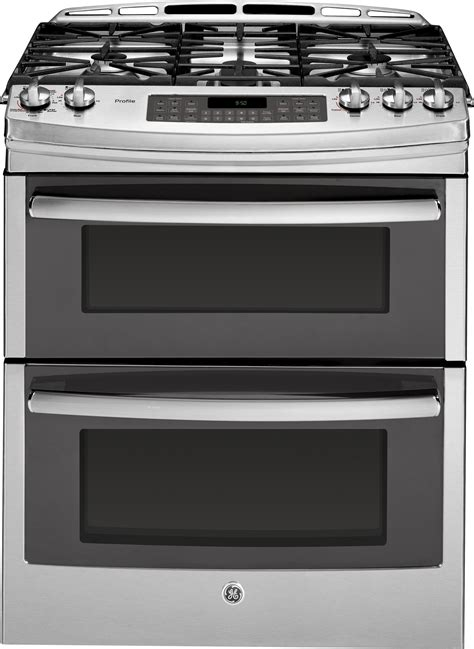 ge pgssefss     double oven gas range  convection simmer burner reversible