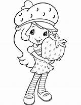 Strawberry Coloring Shortcake sketch template