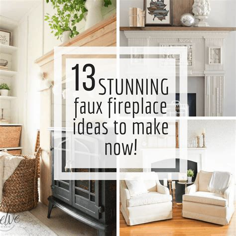 stunning diy fake fireplace ideas    twelve