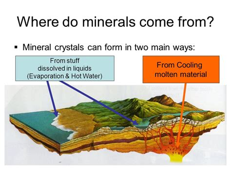 ways minerals can form mineral formation ppt video online download