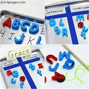 20 ways to use magnetic letters pre k pages With magnetic letters for classroom