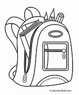 Coloring Backpack Printable Books Drawing Draw Sheets 4kids Simple Christian Printables sketch template