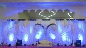Blue And White Wedding Stage Decoration ~ All the Best