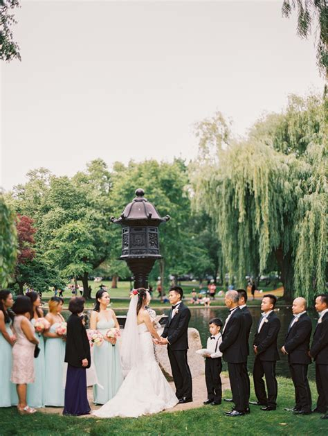 boston public garden wedding ceremony