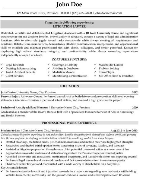 click here to this litigation lawyer resume