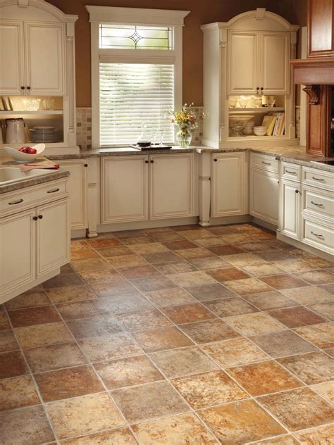 types of floor coverings for kitchens vinyl flooring in the kitchen hgtv