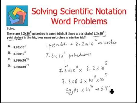 solving scientific notation word problems
