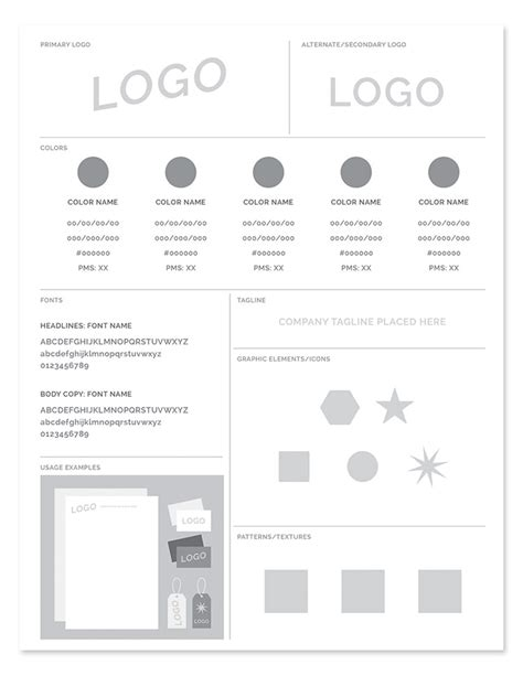 style guide template freebie brand style guide template every tuesday