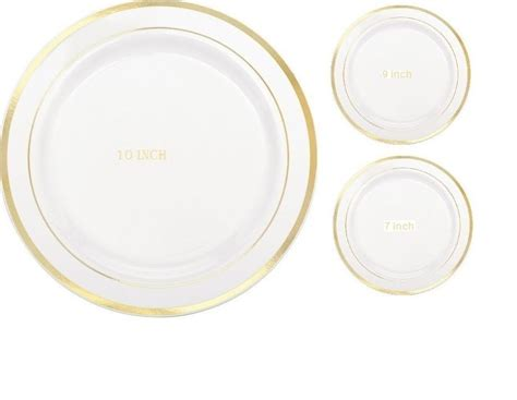Wedding / Dinner / Party Disposable Plastic Plates White