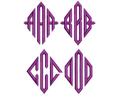 diamond monogram mm font wilcomembroideryfontscom