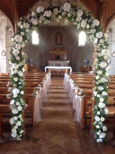 Beautiful White Church Arch Fleur Damour Weddings