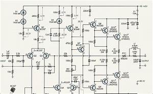 Electronics Circuit   Service Manual Tv  Schematic Diagrams   U0e27 U0e07 U0e08 U0e23power Amp 50 Watts  Bipola