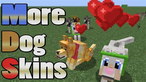 docms minecraft tutorial multiple dog skins youtube