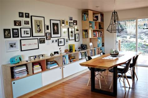 bookshelves in dining room rhoads bookcase modern dining room seattle by kerf design