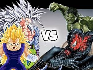 Goku & Vegeta VS Spiderman & The Hulk - YouTube
