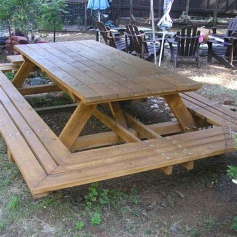 custom  custom  large  bolt picnic tables
