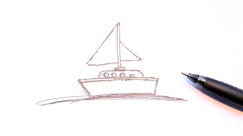 Simple Boat by Simple Drawing Of Boat How To Draw Simple Sailboat
