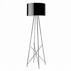 buy flos ray f floor lamp black amara With costura f floor lamp