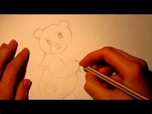 How to draw for Valentine's Day (for beginners): A bear ...