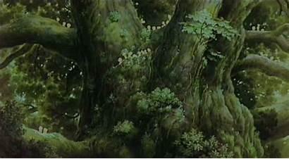 Forest Mononoke Spirit Princess Anime Tree Gifs