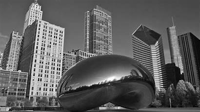 Architecture Chicago Skyscraper Reflection Monochrome Desktop Gate