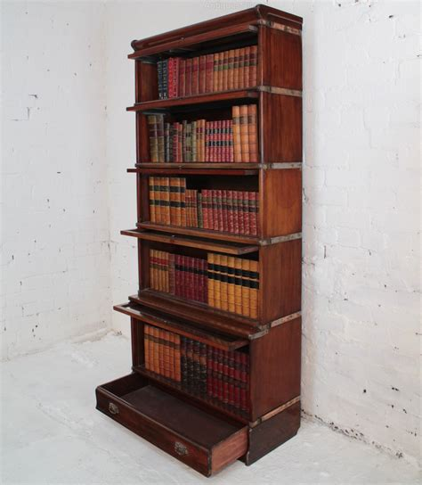 The Bookcase Company by Globe Wernicke Mahogany Stacking Bookcase Antiques Atlas