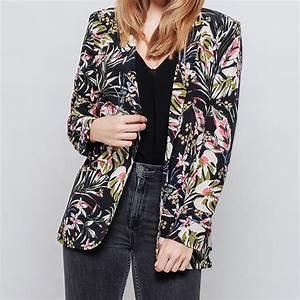 Blazer Femme Fleuri : veste blazer fleurie mon joli top joli veste femme tendance ~ Melissatoandfro.com Idées de Décoration