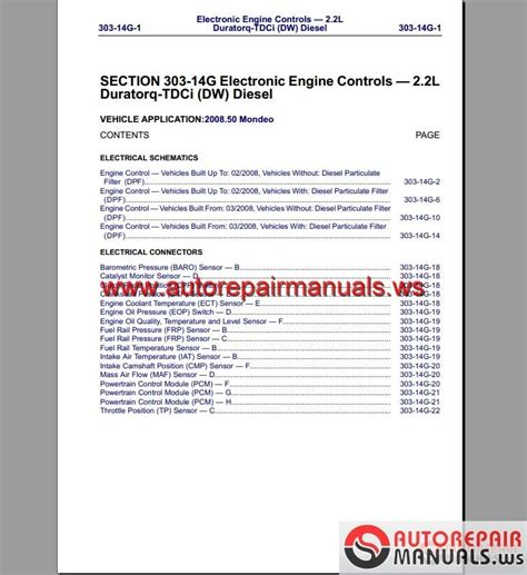 Ford Mondeo Wiring System Diagram Auto