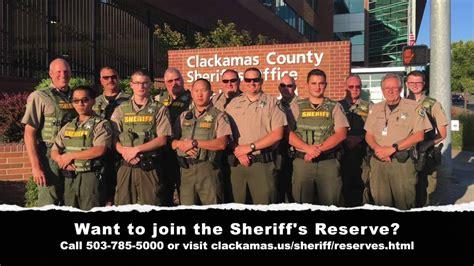 reserve scenario training clackamas county sheriffs