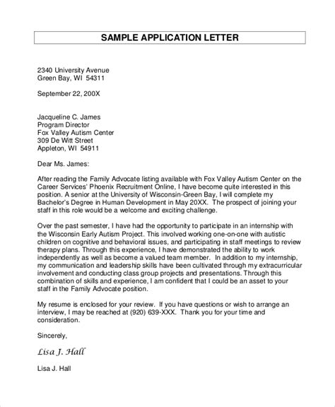 sample letter  applications  word apple pages