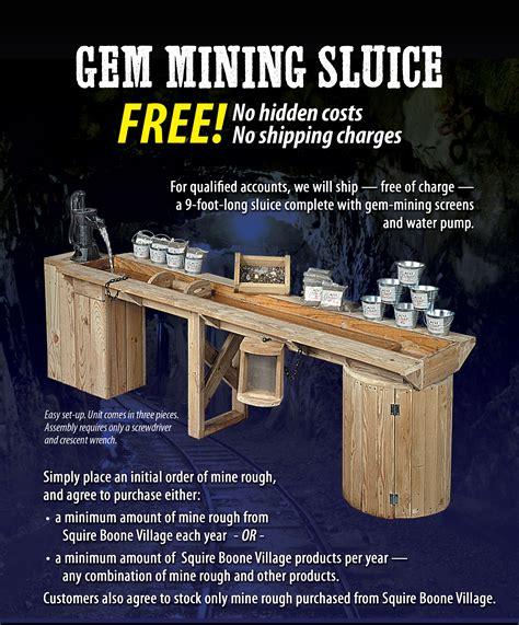 gem mining sluice squire boone village products bloom