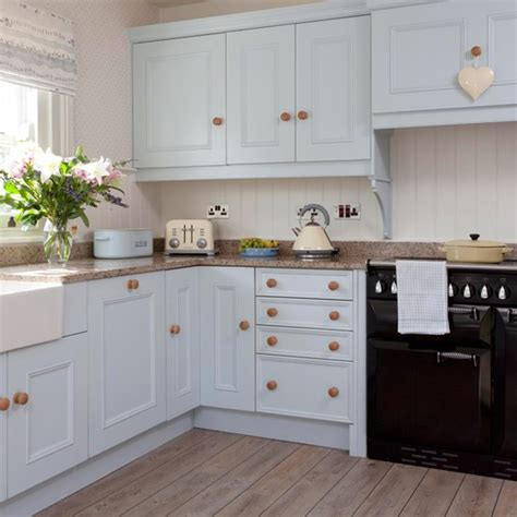 Pale Blue Country Kitchen  Country Design Ideas