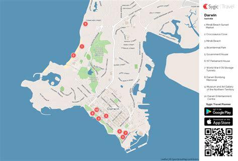 darwin printable tourist map sygic travel