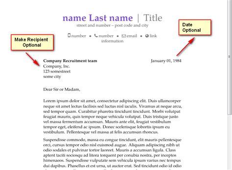 templates  recipient date optional  moderncv
