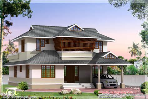 style home design kerala style villa architecture 2200 sqft house design
